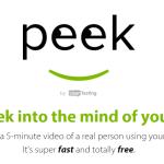 Peek Video Site Testing For Free