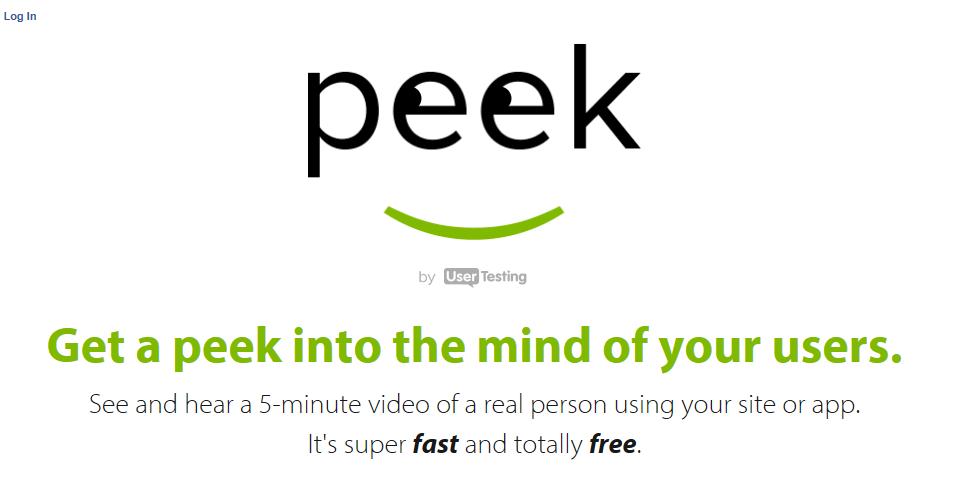 peek user testing for free