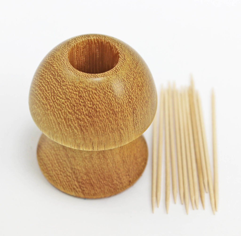 Tooth Pick Holder In Shape Of A Mushroom - Wood Turning Projects For Beginners 3