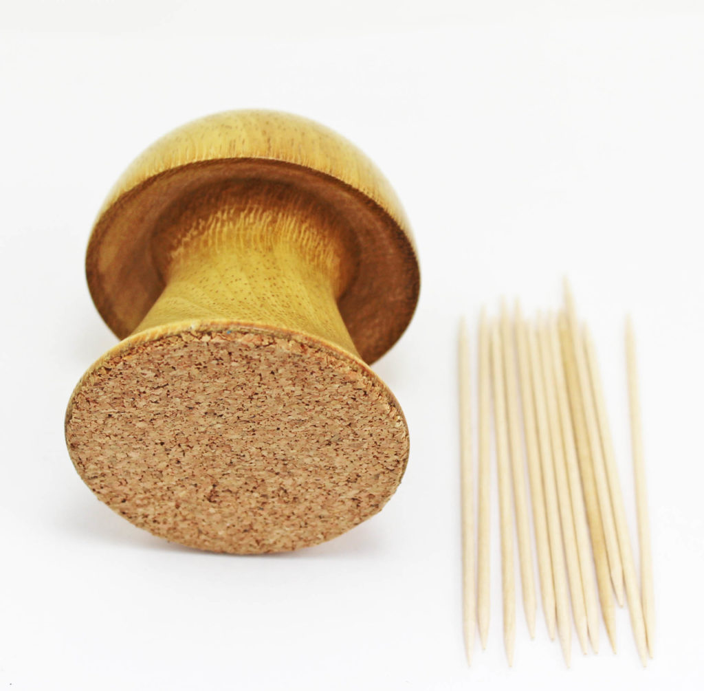 Tooth Pick Holder In Shape Of A Mushroom - Wood Turning Projects For Beginners 4