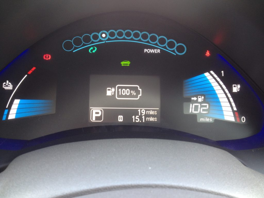 my nissan leaf dashboard