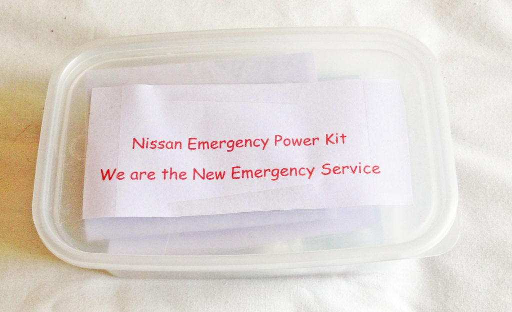 nissan leaf emergency power kit