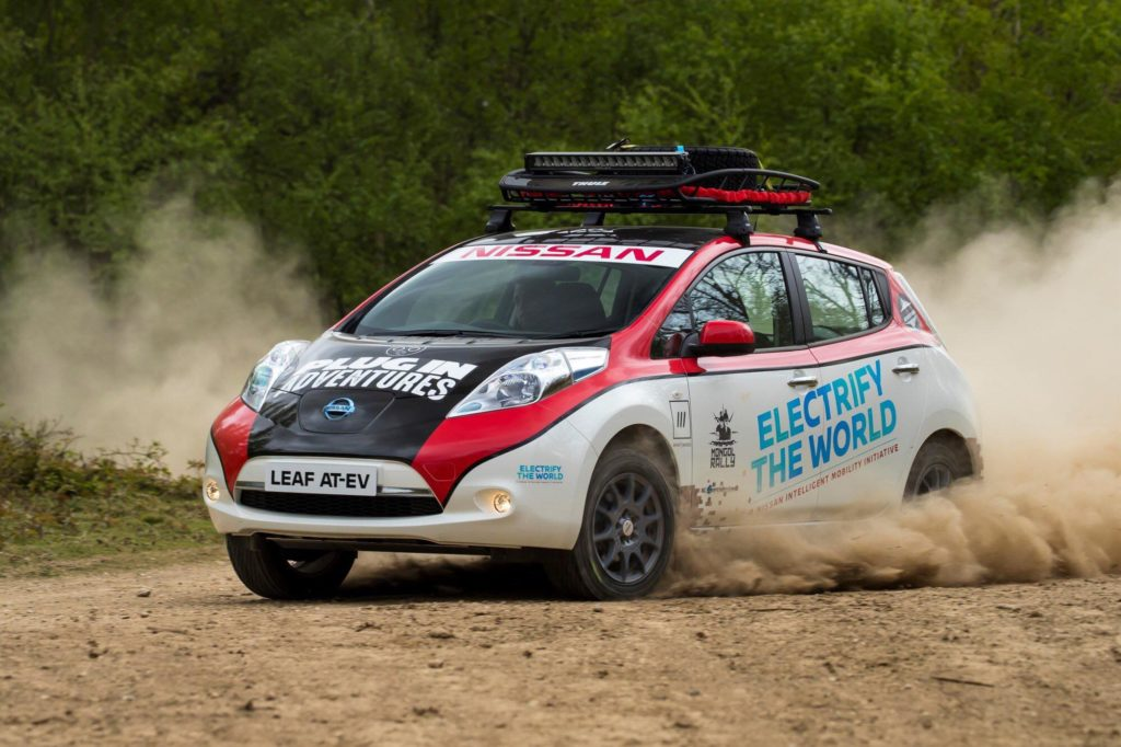 Nissan leaf To Tackle 10000 Mile Mongol Rally