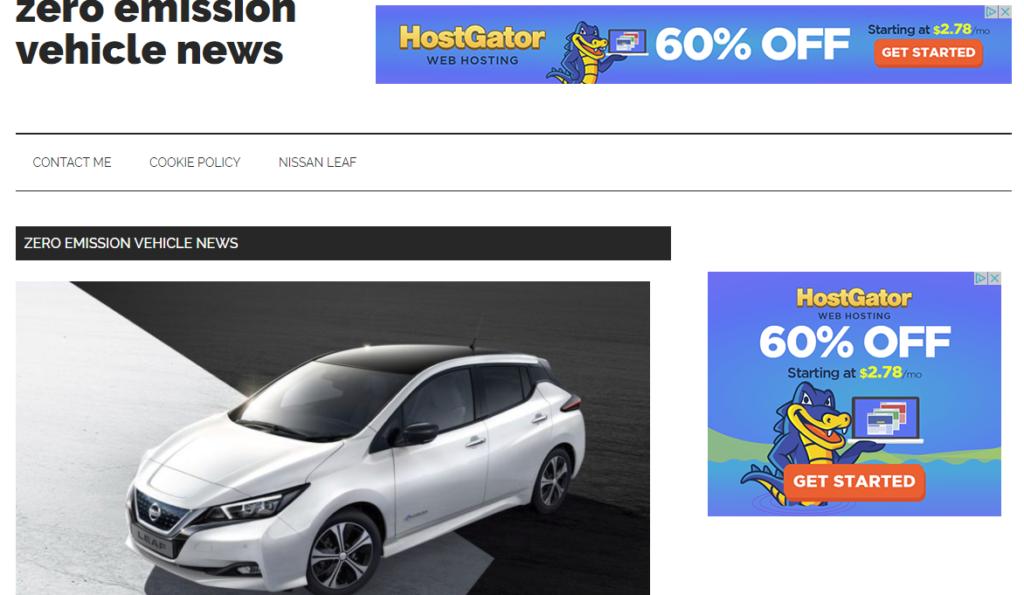 Zero emission vehicle news new website